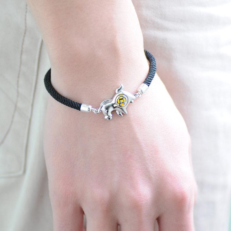 blue sweet couple bracelets red black rope bracelets