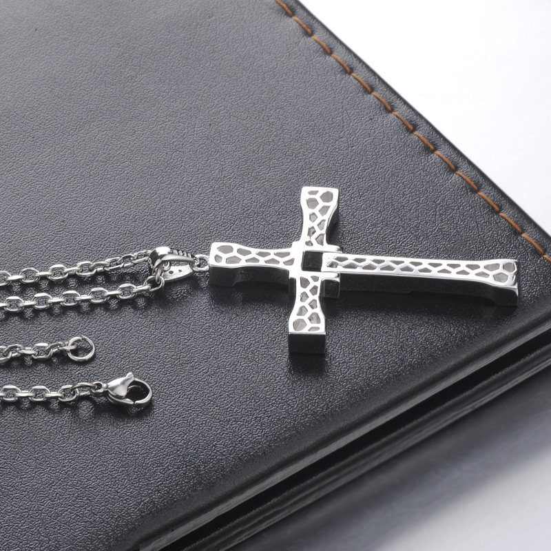 Blue sweet couple necklaces fast and furious cross pendant for blue sweet couple necklaces fast and furious cross pendant for men sterling silver movie cross necklace with diamond accents matching jewelry set for him aloadofball Image collections