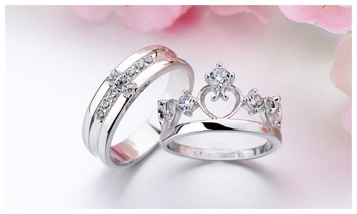 Cz Diamond Cross Wedding Band Open Heart Crown
