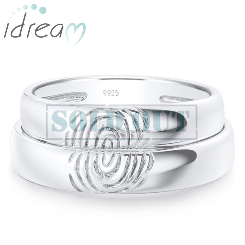 brent custom narrow jess rings narrowbrentandjessrings bands wedding handmade fingerprint engagement