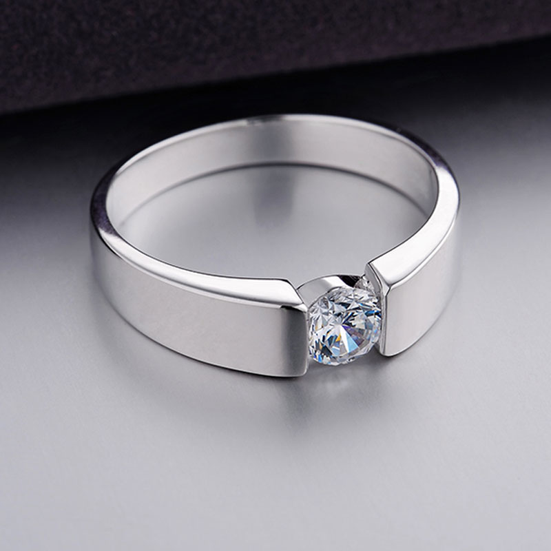 heart round cubic zirconia diamond promise rings for. Black Bedroom Furniture Sets. Home Design Ideas