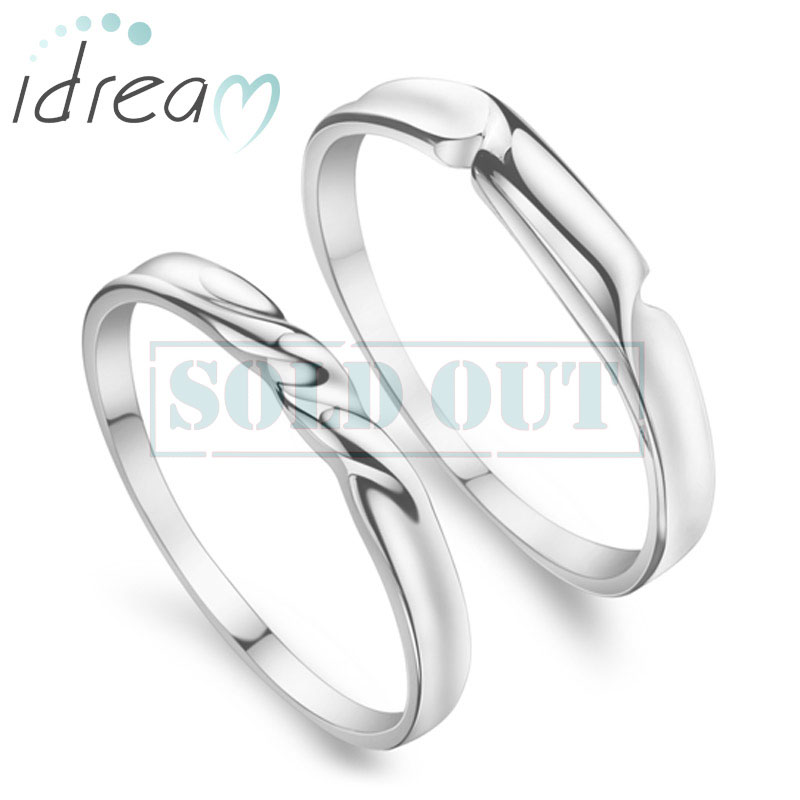 Simple Twisted Promise Rings For Women And Men Polished 925 Sterling Silver Cute Wedding Ring