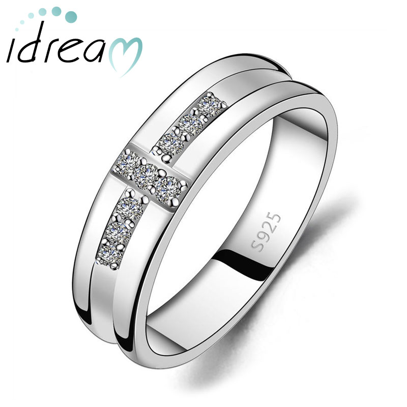 Cubic Zirconia Diamond Accents Cross Wedding Band For Men Personalized Promise Ring In 925 Sterling