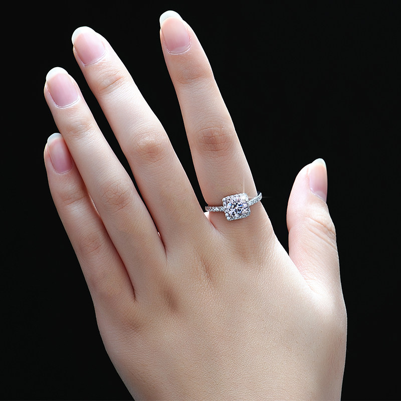 Engagement Rings For Couples: Cubic Zirconia Diamond Couple Engagement Ring For Women