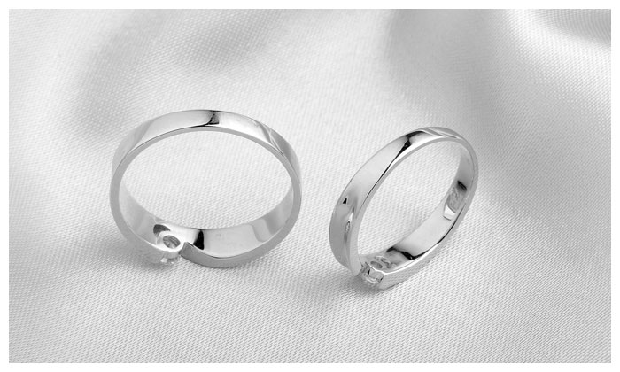Couple Rings Set With Heart