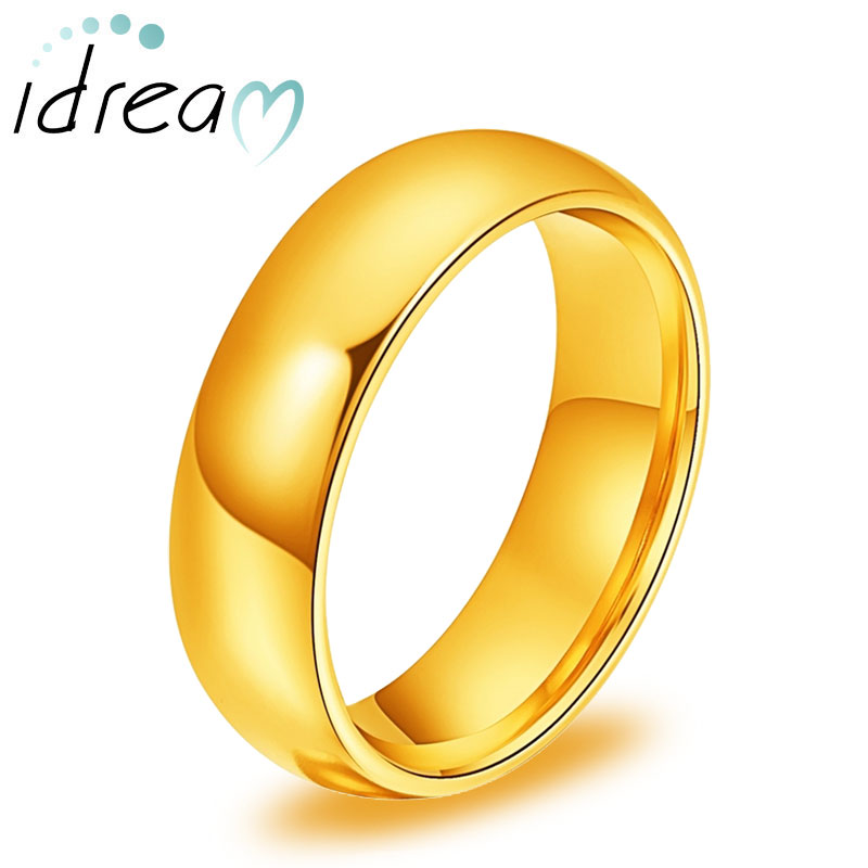 engravable tungsten wedding bands domed rose gold gold black tungsten carbide wedding ring band 4mm 6mm matching couple jewelry set for him and