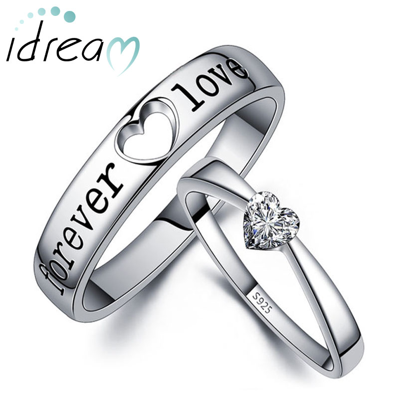 Promise Rings For S Heart Shaped Cz Diamond Engagement Ring Black Forever Love Engraved