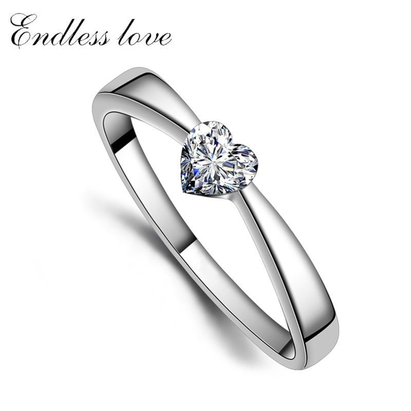 HeartCut Cubic Zirconia Diamond Couple Engagement Ring for Women