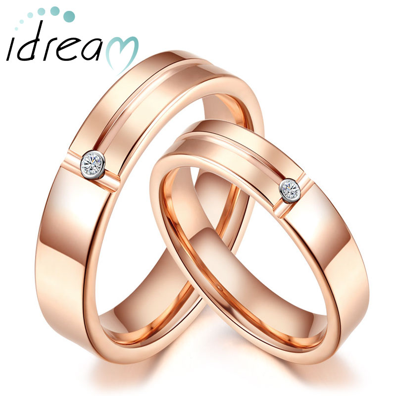 bands fashion steel band rings on rose gold jewelry product buy stainless detail couple love
