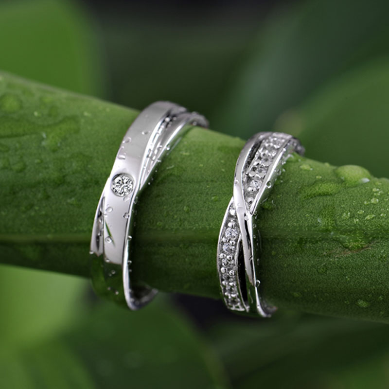 infinity promise rings for couples 925 sterling silver x