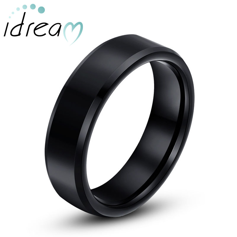 black tungsten wedding bands personalized tungsten carbide wedding ring for men or women. Black Bedroom Furniture Sets. Home Design Ideas