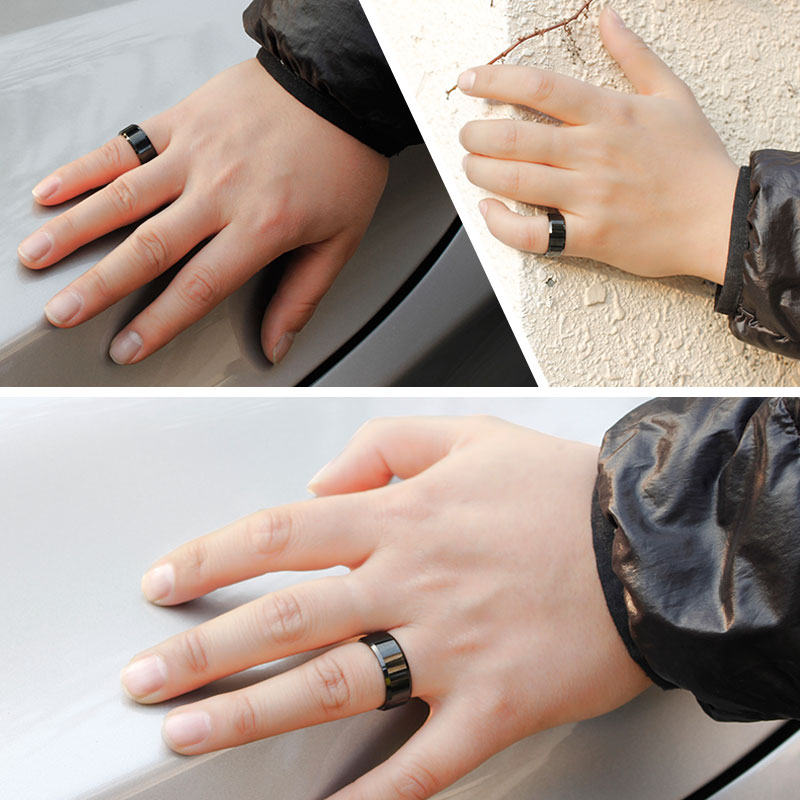 Black Tungsten Wedding Bands Personalized Carbide Ring For Men Or Women Polished