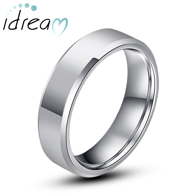 Tungsten Wedding Bands Personalized Carbide Band For Men Or Women Polished Flat