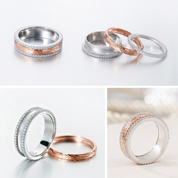 silver age couples rings gold spinner wedding bands
